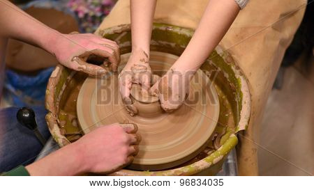Learning pottery