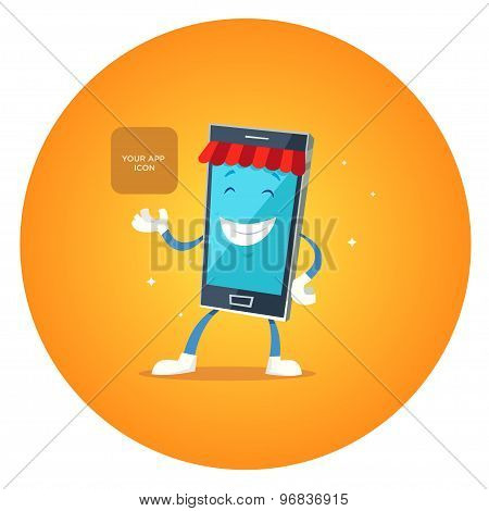 Phone character app market.