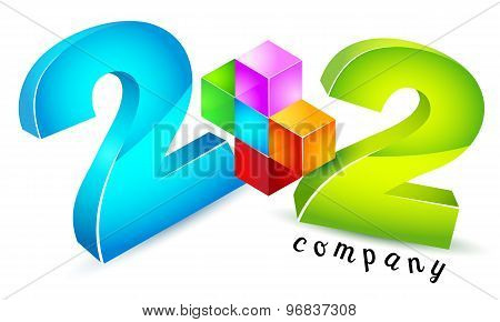 Logo template, 2+2, math, numeracy, school, learn