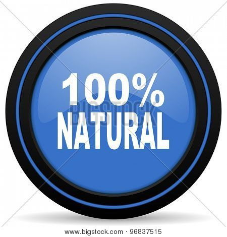 natural icon 100 percent natural sign