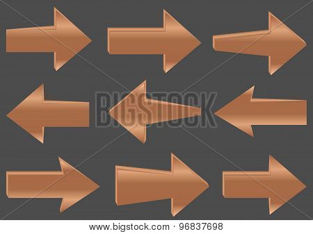Wooden vector arrows