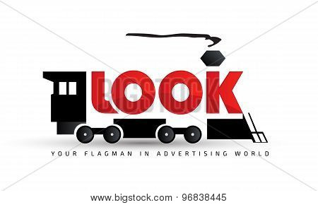 Logo template, creative, PR, transportation