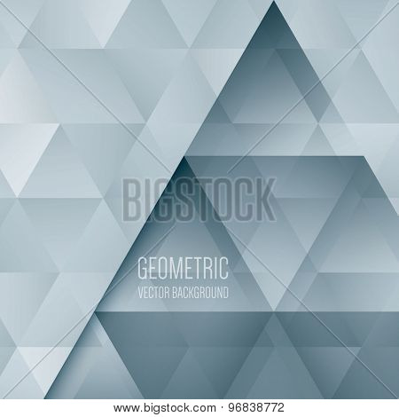 Abstract geometric background, modern triangular design