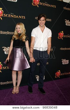 LOS ANGELES - JUL 24:  Dove Cameron, Ryan McCartan at the
