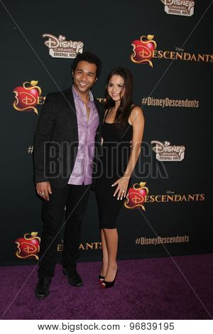 LOS ANGELES - JUL 24:  Corbin Bleu, Sasha Clements at the