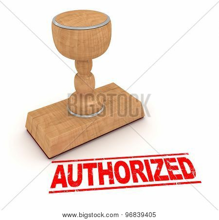 Rubber Stamp - Authorized