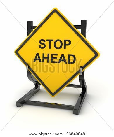 Road Sign - Stop Ahead