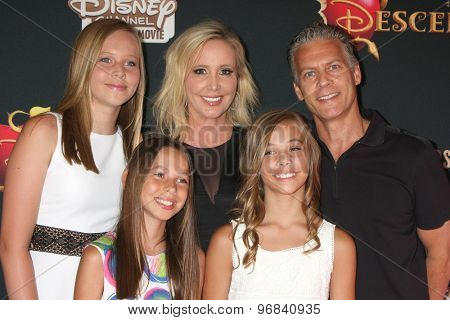 LOS ANGELES - JUL 24:  Shannon Beador, David Beador, family at the