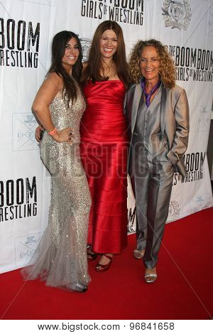 LOS ANGELES - JUL 23: Patricia Lauriet, Carolin Von Petzholdt, Ursel Walldorf at the