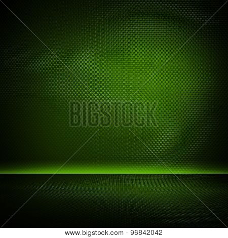 green metal interior background