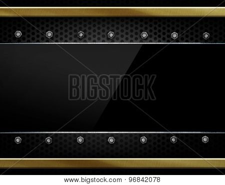 black glasses on metal background