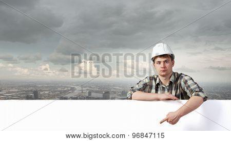 Builder with billboard