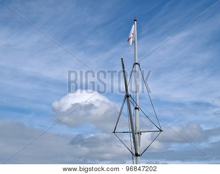 Mast Of A Wooden Sailboat