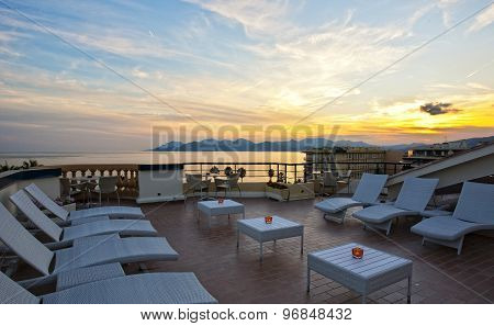 Romantic Sunset In French Riviera