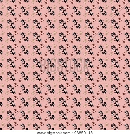 Seamless Pattern For Wallpaper Or Fabric. Eps10 Vector Illustration.