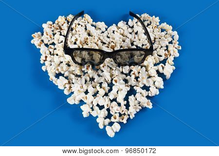 Stereo glasses and Popcorn Heart