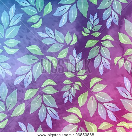 Seamless Watercolor Floral Pattern,  Spring Background