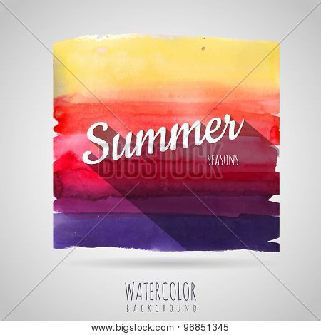 Watercolor Abstract Background. Seasons. Summer