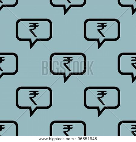 Pale blue rupee message pattern