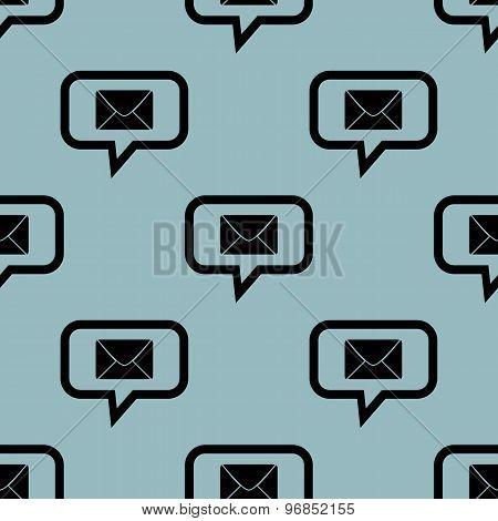 Pale blue letter message pattern