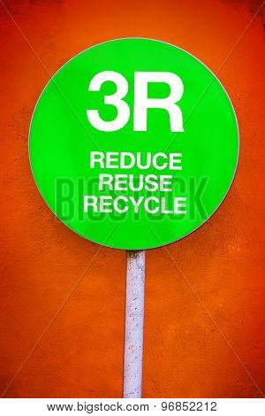 3R Concept - Reduce, Reuse, Recycle
