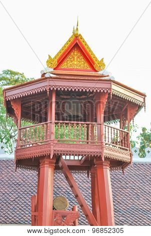 Belfry At Temple In Thailand