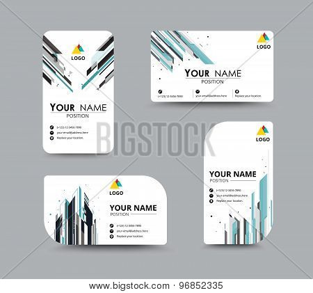 Abstract Business Card Template With Sample Name Position. City Abstract Concept. Vector Illustratio