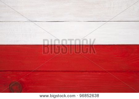 Flag Of Poland Of Colored Boards..