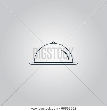Restaurant cloche icon