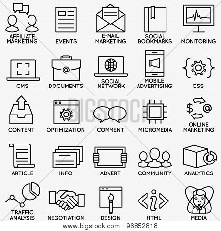 Set Of Seo And Internet Service Icons - Part 4