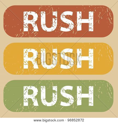 Vintage RUSH stamp set
