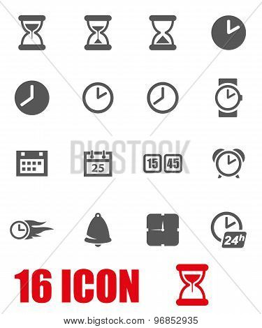 Vector Grey Time Icon Set