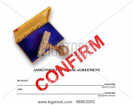 Assignment Of Lease - Confirm