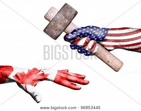 United States Hitting Canada With A Heavy Hammer