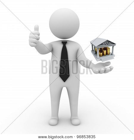 3d businessman people  - Banking and Finance