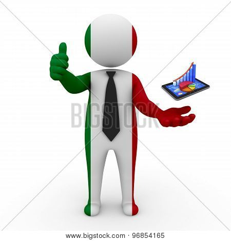 3d businessman people Italy - Innovative technologies and business development