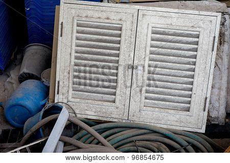 Old Dirty Cabinet Door