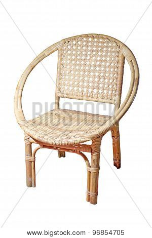 Rattan Chair Isolate On White Background