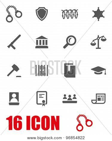 Vector Grey Justice Icon Set