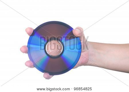 Female Hand With Dvd