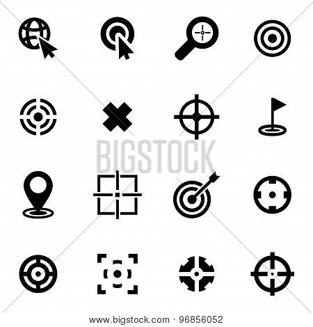 Vector Black Target Icon Set