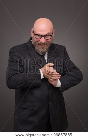 Hipster bearded businessman