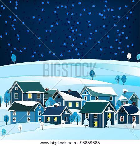 01 City winter landscape