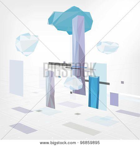 01 Geometrical city background
