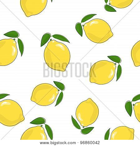 Seamless Pattern Of  Lemon