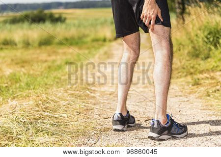 Jogger Having Muscle Pain