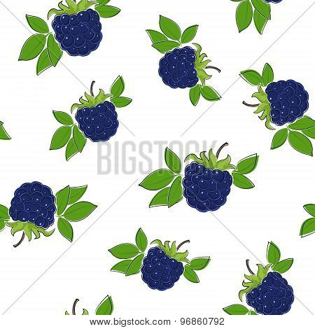 Seamless Pattern Of Blackberry