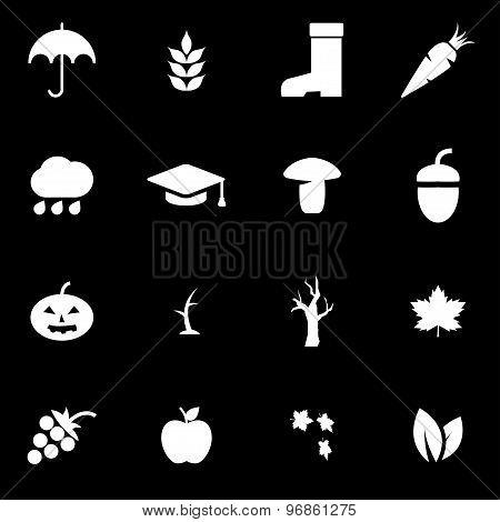 Vector White Autumn Icon Set