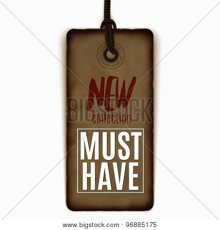 Must-have Realistic Vector Label Isolated On White, Sale, Advertising, Special Offer