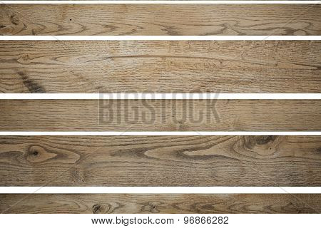Wooden Boards Isolated On White